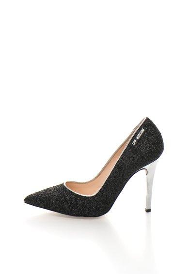 FashionDays.ro: Pantofi stiletto negri cu particule stralucitoare Love Moschino