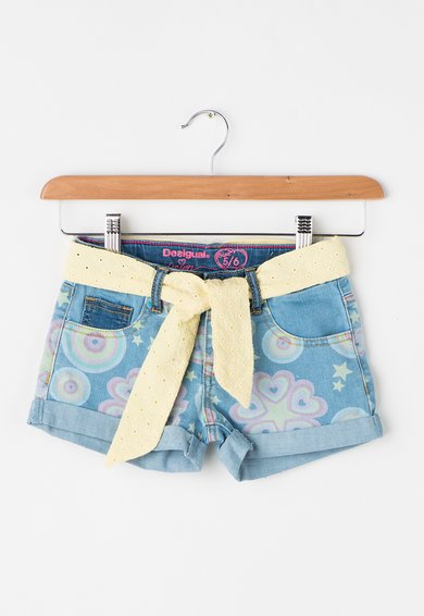 FashionDays.ro: Pantaloni scurti bleu din denim Maestre Desigual