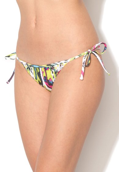 FashionDays.ro: Slip brazilian multicolor cu snururi laterale Just Cavalli