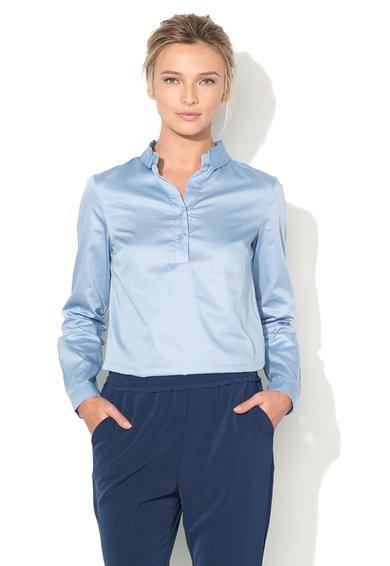 Sisley Bluza tip tunica bleu cu guler striat