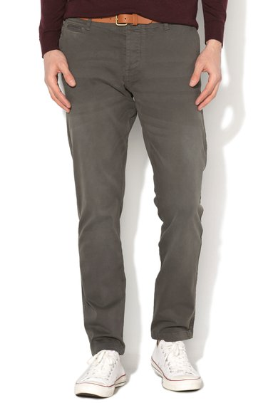 JackJones Pantaloni gri maur regular fit Cody