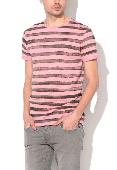 FashionDays.ro: Tricou roz cu gri in dungi EDC by ESPRIT