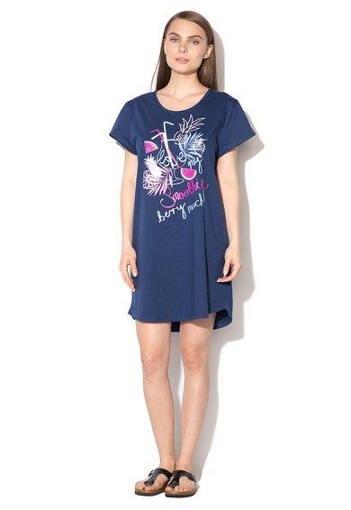 Camasa de noapte bleumarin cu imprimeu de la Triumph