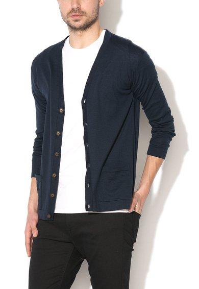FashionDays.ro: Cardigan bleumarin din jerseu United Colors Of Benetton