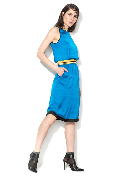 Sisley Rochie albastru paun cu design sport