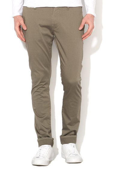 Pantaloni super skinny verde militar de la GUESS JEANS