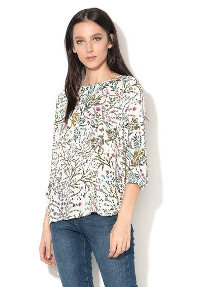 FashionDays.ro: Bluza tip tunica alba cu model floral multicolor ESPRIT