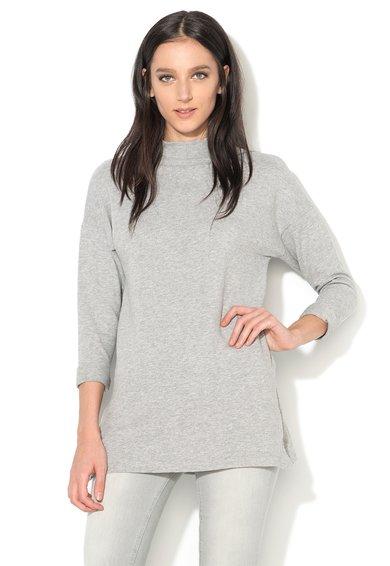 New Look Bluza gri melange tricotata cu guler inalt