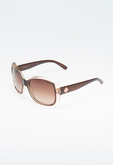 FashionDays.ro: Ochelari de soare maro inchis cu alb transparent polarizati Polaroid