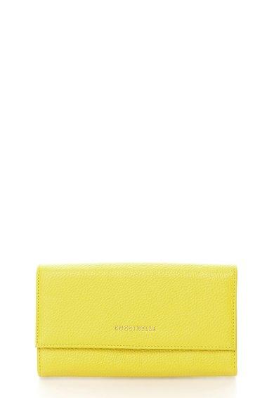 FashionDays.ro: Portofel verde chartreuse de piele COCCINELLE