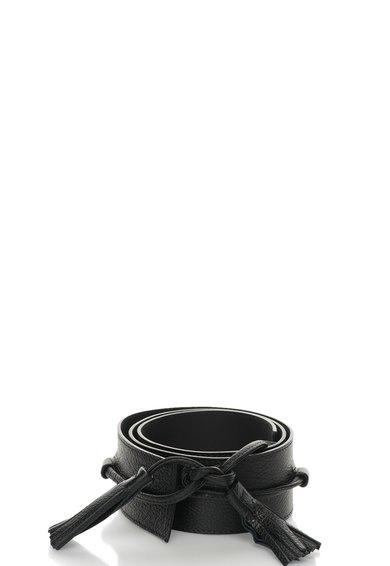 FashionDays.ro: Curea tip cordon neagra  de piele cu canafi COCCINELLE
