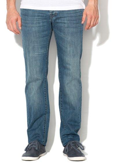 FashionDays.ro: Jeansi albastru decolorat cu croiala dreapta United Colors Of Benetton