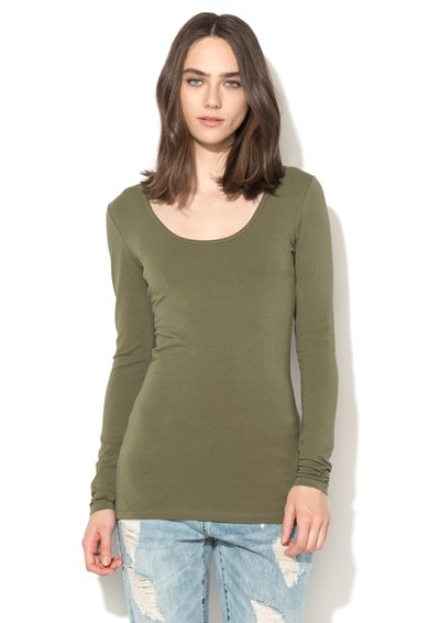 Only Bluza verde militar Live Love Femei image_1
