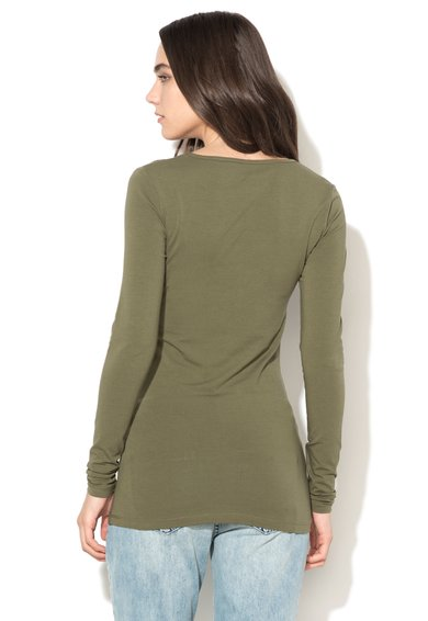 Only Bluza verde militar Live Love Femei image_2