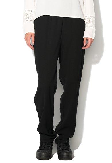Pantaloni negri cu croiala lejera Provide