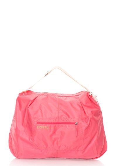 FashionDays.ro: Geanta roz aprins din material textil Bensimon