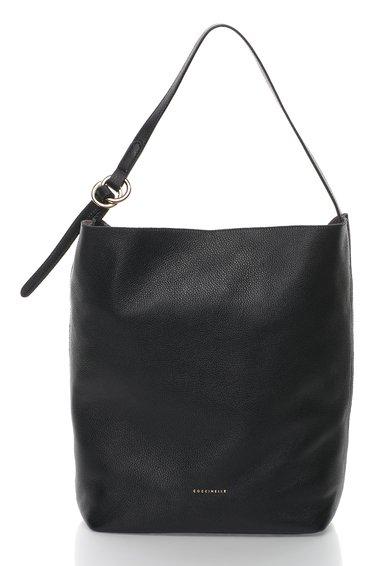 FashionDays.ro: Geanta hobo neagra de piele Davon COCCINELLE