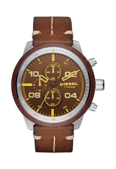 FashionDays.ro: Ceas cronograf maro cu argintiu Padlock Diesel