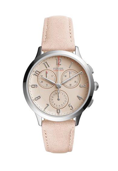 FashionDays.ro: Ceas cronograf roz prafuit cu argintiu Abilene Fossil
