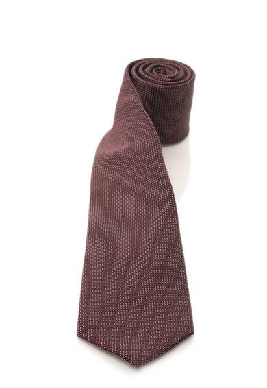 FashionDays.ro: Cravata rosu Bordeaux de matase cu buline albe Vincenzo Boretti