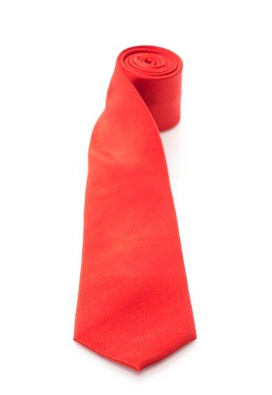 Cravata rosie de matase