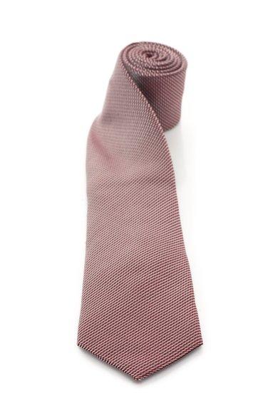 FashionDays.ro: Cravata rosu cu argintiu de matase cu model discret Vincenzo Boretti