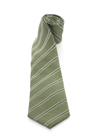 FashionDays.ro: Cravata in nuante de verde de matase cu dungi Vincenzo Boretti