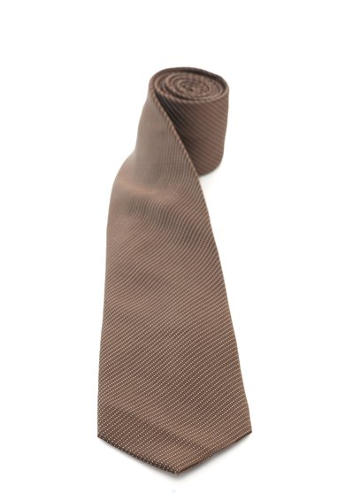 FashionDays.ro: Cravata maro inchis cu alb de matase cu buline Vincenzo Boretti