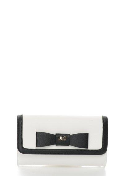 FashionDays.ro: Geanta crossbody alb si negru cu funda JLo by Jennifer Lopez