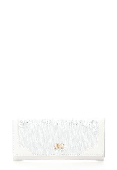 FashionDays.ro: Portofel alb si argintiu cu logo metalic JLo by Jennifer Lopez
