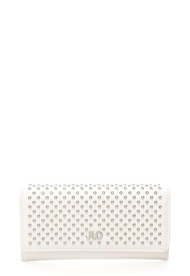 FashionDays.ro: Portofel alb prafuit cu detalii metalice JLo by Jennifer Lopez