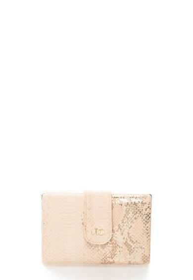 Geanta plic minaudière roz deschis cu auriu si model sarpe JLo by Jennifer Lopez