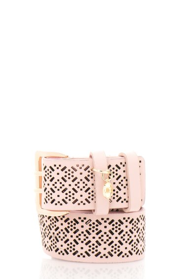 FashionDays.ro: Curea roz cu model in relief JLo by Jennifer Lopez