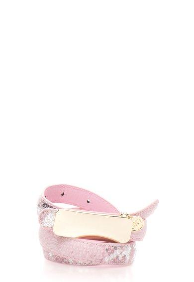 FashionDays.ro: Curea roz cu argintiu cu model sarpe JLo by Jennifer Lopez